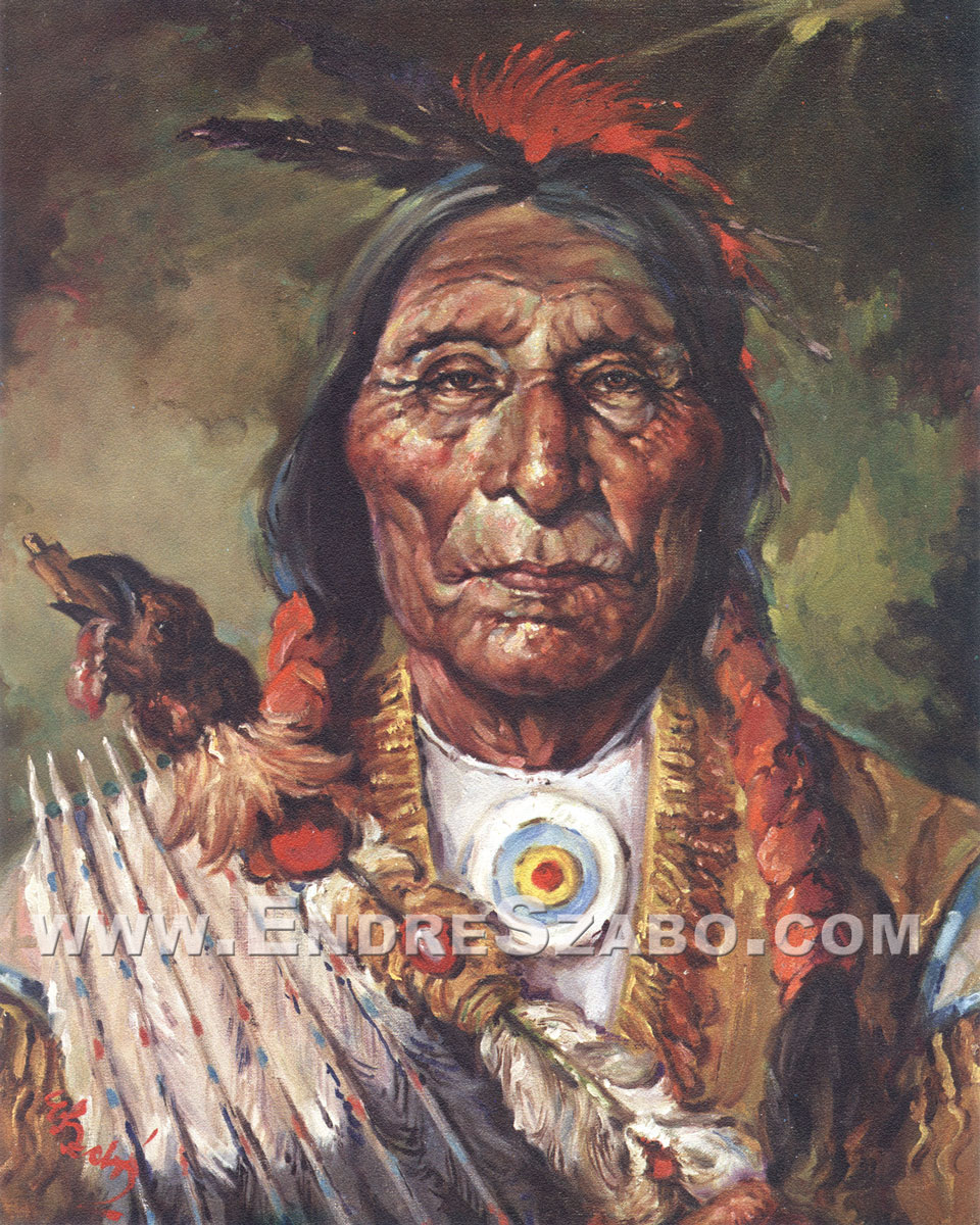 Cheyenne Chief Lithographic Print