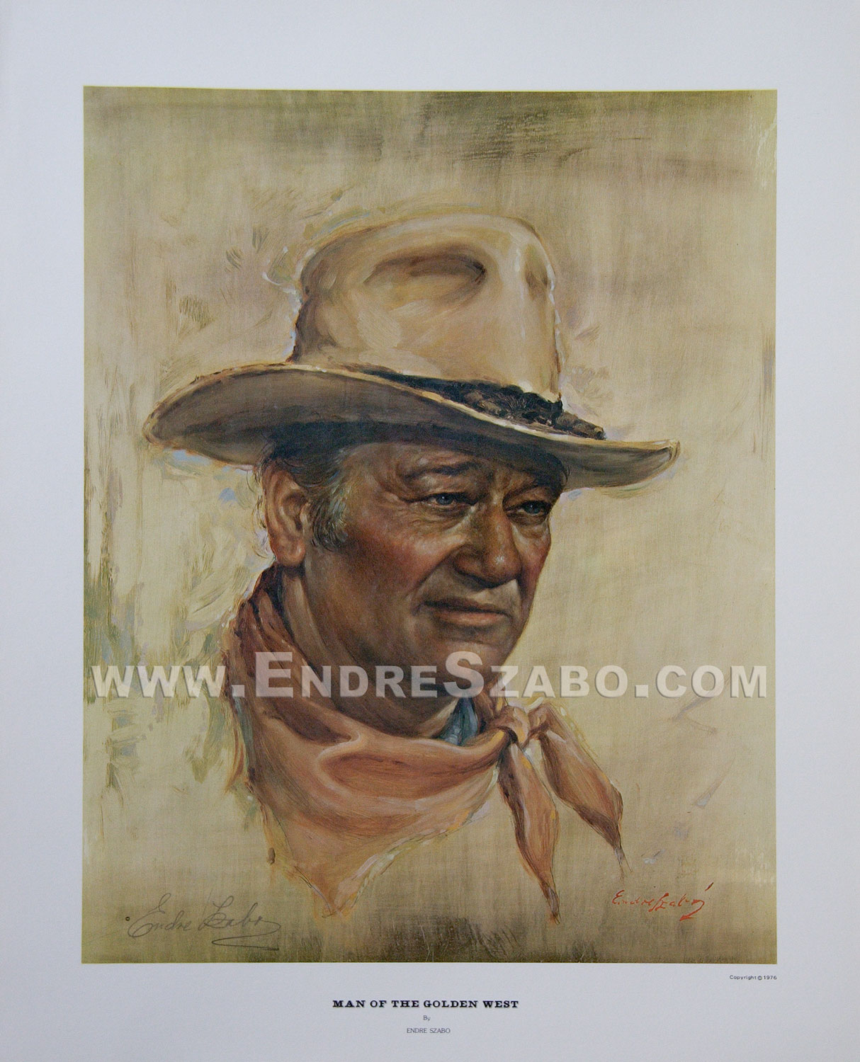 John Wayne Authorized Portrait
